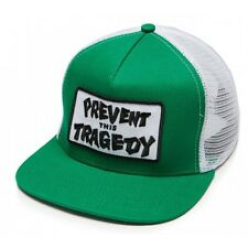 THRASHER MAGAZINE PREVENT THIS TRAGEDY TRUCKER CAP GREEN/WHITE