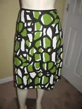Cato Women's Multi-Color Print A-line Skirt Size 8