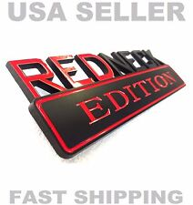 REDNECK EDITION emblem FIAT CAR TRUCK DATSON peugeot logo DECAL ornament BADGE