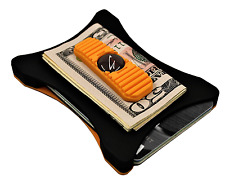 "Military Grade Wallet ""Orange on Black"" wallet by Bench Built"