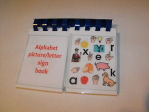 large Board maker alphabet/picture flip book visual learning aid