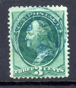 Sc# 184 3c 1879 issue Blue negative star in circle fine