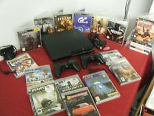 SONY PLAYSTATION 3 SLIM 120GB BUNDLE CONSOLE 2 CONTROLLERS CAMERA AND 20 GAMES