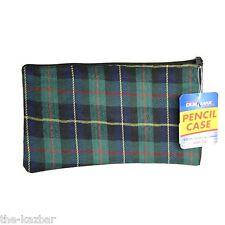 Pencil case tartan design adults or kids zipper top for art or school stationary