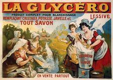 """""""LA GLYCERO (LESSIVE)"""" Affiche originale entoilée Litho TAMAGNO 164x118cm"""