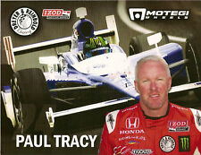 2010 PAUL TRACY INDY CAR IRL MOTEGI WHEELS PHOTO CARD INDIANAPOLIS 500 RACING