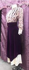 90s Plum Purple Velvet and Lace Victorian./Edwardian Style 2pc Suit Xs-S