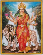 "3 Devi Durga Shakti Maa (Hindu Gods Goddesses) Poster Wallpaper Sticker  8.5x11"""