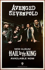 AVENGED SEVENFOLD Hail To The King Ltd Ed RARE Poster +FREE Metal Poster! Stage