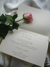 PERSONALISED WEDDING INVITATION INSERTS x 10 IVORY  A6