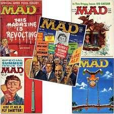 MAD MAGAZINE LOT #54, 55, 56, 57, 58 (1960)  Wally Wood, Kelly Freas, Sid Ceasar