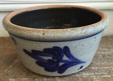 1986 Rowe Pottery Works Salt Glazed BOWL MULTI USE