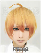 Cosplay Perücke Love Stage!! Sena Izumi short orange gold party Anime haar