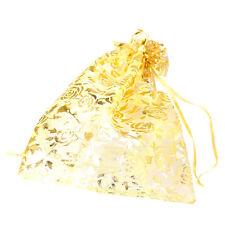 50 HOT Moda Sacchetto in Organza Regalo Bigiotteria Rose Oro 30cm x 20cm