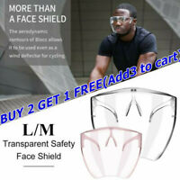 Face Cover Protection Safety Mask Shield Clear Glasses Anti-Fog indoor MASK USA