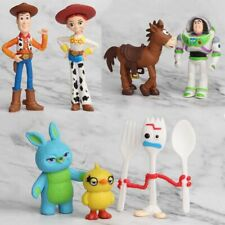 7Pcs/Toy Story 4 Woody Lightyear Alien Forky Buzz Bunny Figure Cake Topper Set