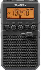 Sangean Black Digital AM/FM Weather Alert Pocket Radio Portable Rechargeable
