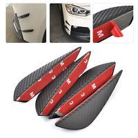 4pcs 13.2cm Carbon Fiber Car Bumper Protector Body Spoiler Lip Canards Splitter