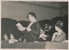 PARIS c. 1930 - Mlle Thuillier Discours Congré Féministe - PRM 410