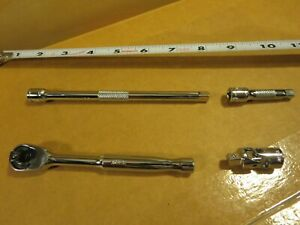 Matco Tools 4 Pc 1/4 dr Silver Eagle Ratchet , 2- Extensions and Universal  Set