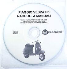 CD:5 MANUALI:RIPARAZIONI,CATAL. RICAMBI,ESPLOSI PIAGGIO VESPA AUT.PK 50-80-125S