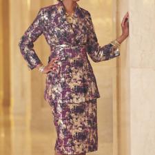 sz 10 Gemma Gold Jacket Dress by Ashro new