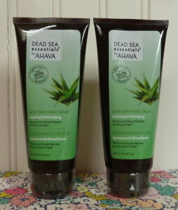 2 NEW & SEALED AHAVA DEAD SEA ESSENTIALS ALOE VERA HAND CREAM 3.4 OZ X 2
