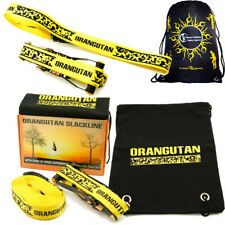 Orangutan Slackline 15m Set -Ratchets Straps + Bag Balance Slack Line/Tightwire