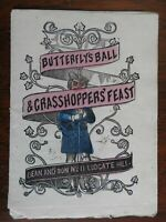 Butterfly's Ball and Grasshopper's Feast 1860 Dean hand color chapbook juvenile