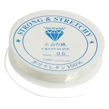 3X(Clear Soft Plastic Stretchy Beading Slim String Crystal String Thread Roll Y2