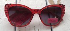Betsey Johnson Cat Eye Sunglasses Red NWT RARE!