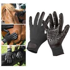 1 Pair Pet Dog Cat Grooming Gloves Brush Hair Remover Massgae Horse Cleaner AU