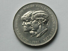 UK (Great Britain) 1981 25 Pence CROWN Coin Prince Charles & Lady Diana Wedding