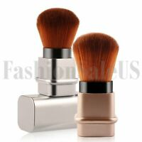 2pcs Retractable Portable Cosmetic Eye Brow Makeup Brush Blush Foundation Powder