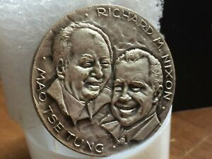 1972 China USA coin Peking Richard Nixon & Mao Zedong Mao Tse Tung Medal 毛澤東 尼克松