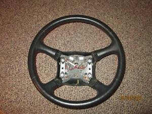 1999 Chevrolet Silverado GMC Sierra BLACK Leather Steering Wheel  99 - 02 OEM