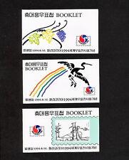 Ssbd_024 Korea 1994 3 Booklet Phila Korea Exhibition Art Nature Mnh Superb