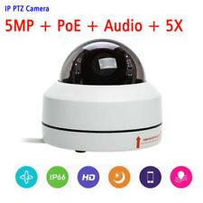 5MP CCTV POE Mini Dome IP PTZ Camera 5X Optical zoom  IP66 Outdoor + Audio input
