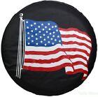 "14"" American Flag Spare Wheel Cover For Wrangler RV Camper Boat Trailer24""-27"""