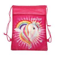 Unicorn Drawstring Backpacks Unicorn Storage Bags Kids Birthday Party Gifts  HK
