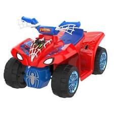 Spiderman Marvel Red Blue Quad Atv 6V Ride On Toddler Boys Car Light-Up New