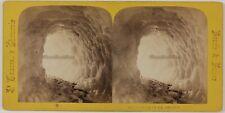 Grotte de Glace Suisse Chamonix France Photo Stereo PL28Th1n28 VintageAlbumine