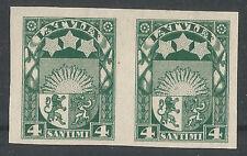 Latvia 1923  4 sant.  2 mint stamps no gum imperf.