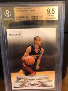 Stephen curry graded 9.5  prestige  & 1986 Micheal Jordan unknow Rookie card