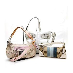 Coach Shoulder Bag  3 set Whites Leather 1135972
