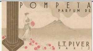 carte parfumée pompeta LT.Piver, paris  (droguerie brivet a Roanne)