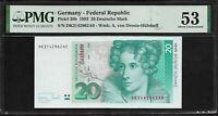 Germany 20 Deutsche Mark 1993 PMG 53    P# 39b