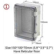"""5.9x3.9x2.7"""" Waterproof Clear Cover Electronic Cable Project Box Enclosure Case"""