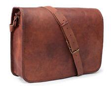 """15""""New Men's Vintage Leather Full Flap Messenger Laptop Satchel Shoulder Bag,,,"""