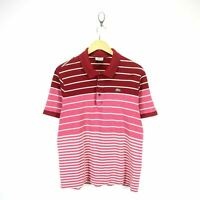 Lacoste Men's Polo Shirt Size 7 L Red Short Sleeve Cotton Casual Shirt EF6448